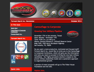 Forward March Inc. E-Newsletter.