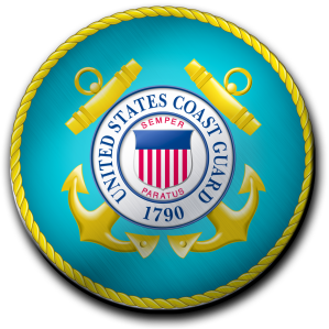 METAL COAST GUARD SEAL